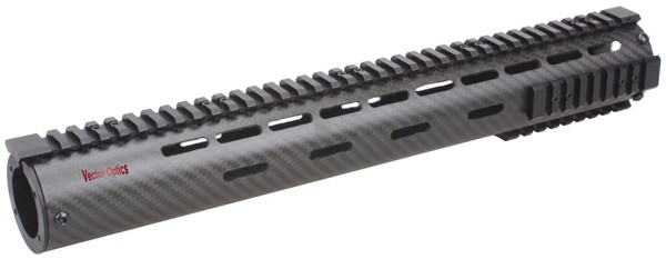 "15"" Rifle Length Free Float Keymod Carbon Fiber Handguard + Detachable Picatinny Rail Mount + End Cap for .223 5.56 AR15 M4/16"