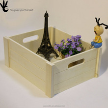 Cheap price customized natural color wooden toy storage box decorative