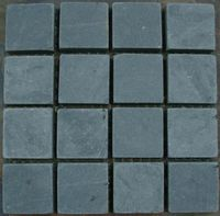 high quality green color slate floor tile wholesale tumbled stones