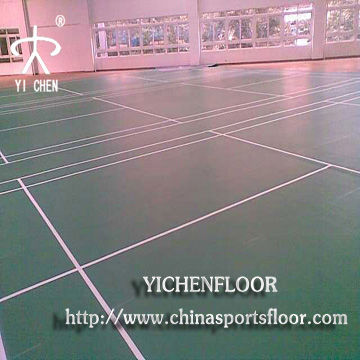 YICHEN pvc sports flooring wood surface for indoor basketball hall