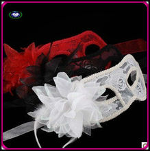 manufacturer red/white/black plastic flower party mask for women venetian masquerade mask