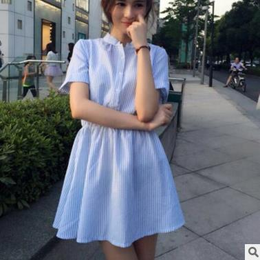Alibaba korean woman clothes cotton long design ladies sweet shirt dress