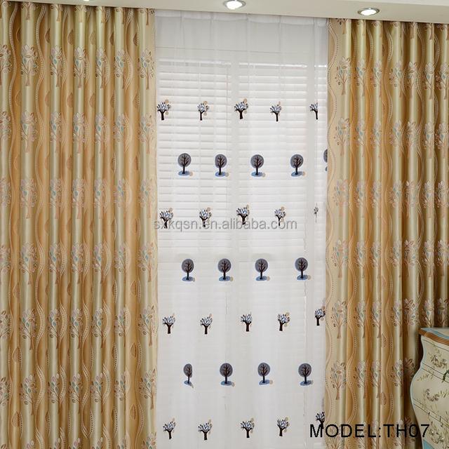 2017 beautiful curtain fabric_Yuanwenjun.com