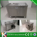Hot sale fried 1pan with 6 holes cooling tanks fry ice cream machine in snack machines