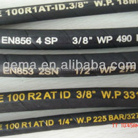 SAE High Pressure Rubber Hose Black