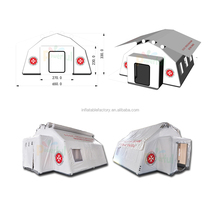 Folding portable inflatable red cross emergency medical tent