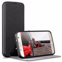 [X-Level] High Quality Black PU Leather Flip Case for Samsung S7 Classic Design
