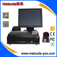 15 inch lcd cash register machine / lcd touch all in one pos system