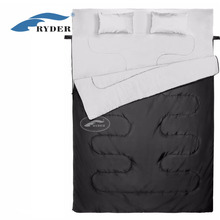 Best Quality Double Layer Outdoor Camping Two Person Sleeping Bag with Pillow
