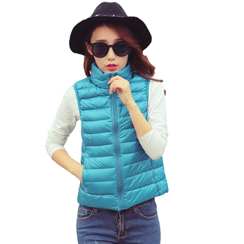 Cheap Winter Season Streetwear Mature Lady Casual Jogging Slim Body Down Jacket Vest Women
