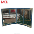 Villa window PVC curved glass arched windows/curved sliding window