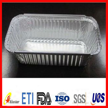 aluminum container with lid for food packing