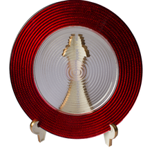 Red Clear Glass Charger Plates