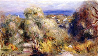 View of Cannet by Auguste Renoir calm town painting pictures