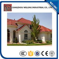 Hot selling Roman stone chip coated metal roof tile