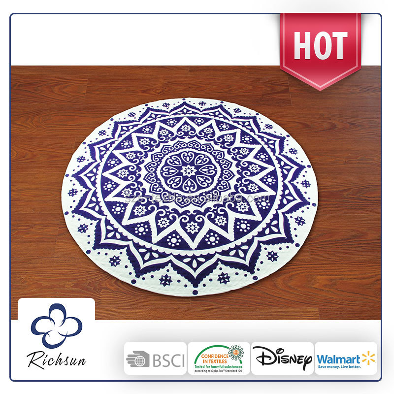 funny adult personalized round beach towels mandala