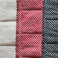 New products fashion knitted polyester stretch jacquard bonded breathable fabric