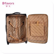 Hot selling 2pcs set pilot bag unique luggage tags four wheeled pu luggage with low price