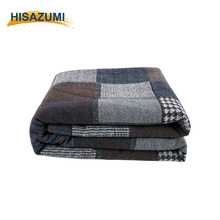 Worsted Patchwork Woolen Cloth Tweed Blanket