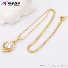 32375-Xuping Romantic love teardrop glass crystal necklace pendant