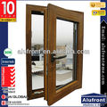 Australia standard double glass aluminium clad wood casement house window in alufront