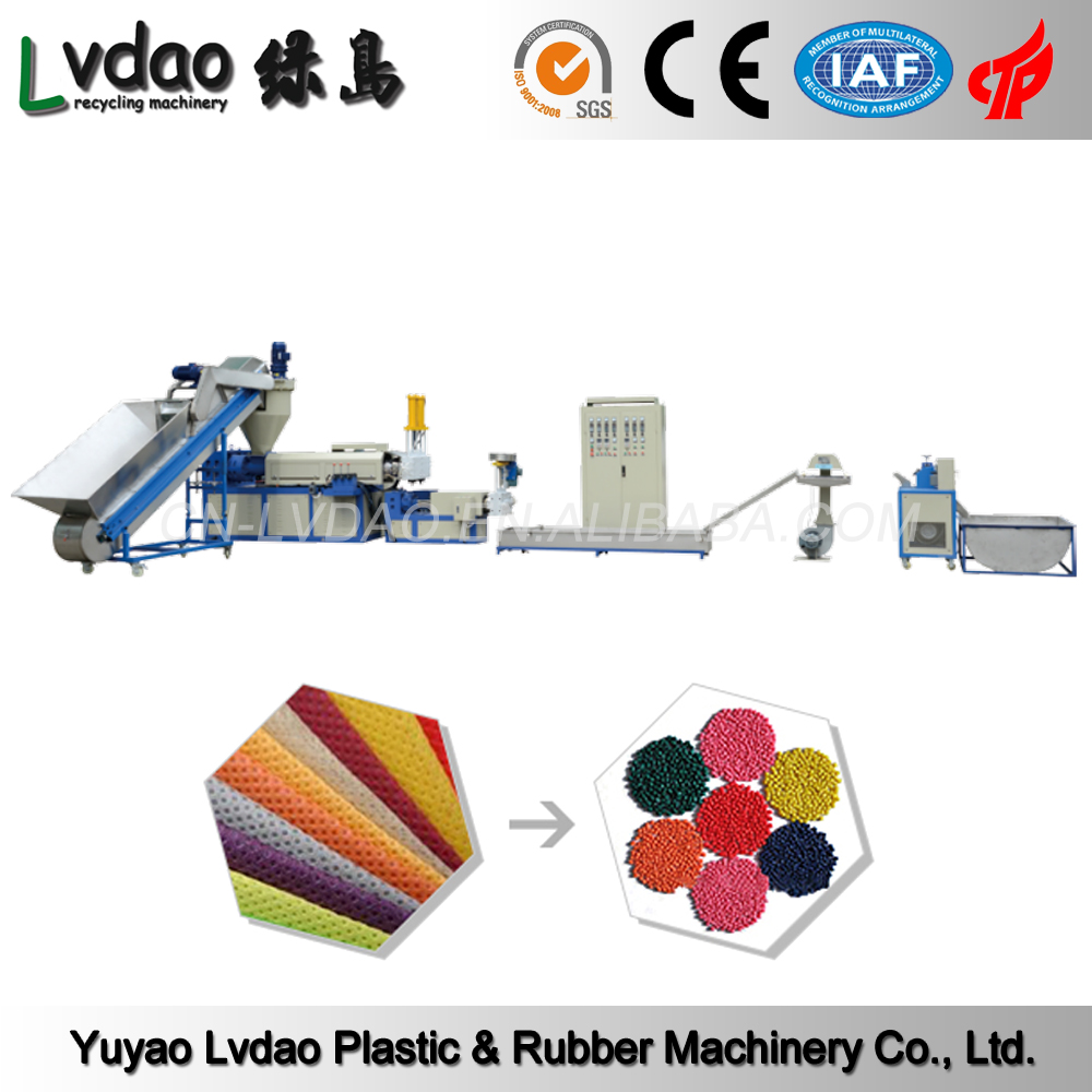 China manufacturer PP PE waste plastic film recycling machine