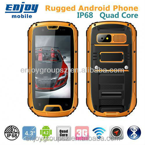 Smartphone 4.3' Quad Core 3G wifi GPS IP68 Rugged Android Smartphone with smartphone htm