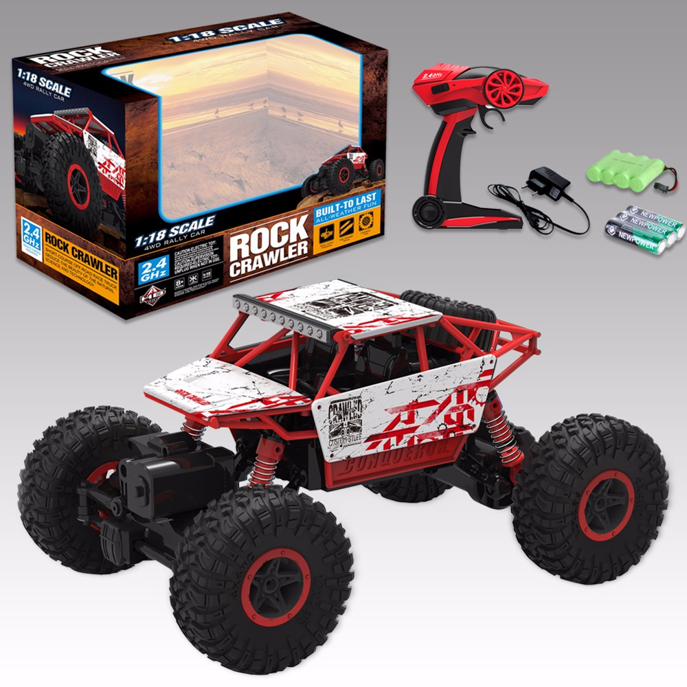 1:18 Rock Crawler Powerful RC Car Battery Powered RC Car