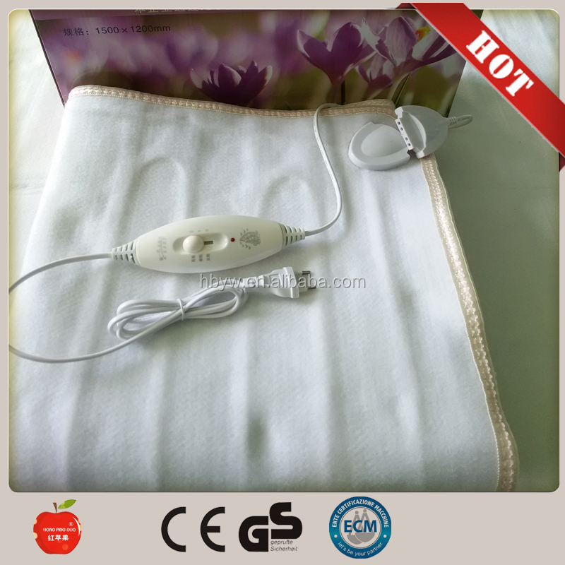 wholesale Low Price Polyester Electric Heating Blankets/heated blanket/massage electric blanket from china factory