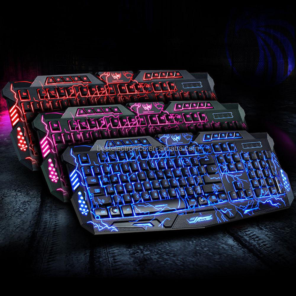 Malloom 2016 Brand New M200 3 Colors USB Backlight Gaming Crack Mechanical Keyboard Gamer