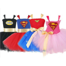 Hero Wonder Woman Princess Costumes for girls Tutu Dress Children Halloween Dance Costumes for Kids