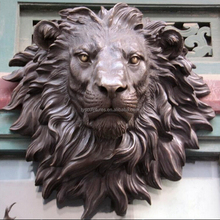 Home decorative life size metal lion head bronze wall sculpture for sale
