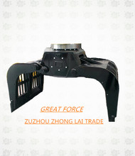 excellent attachments hydraulic stone grapple