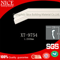 Eco-friendly building material fireproof wall board/PU plain panel mouldings