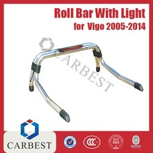 High Quality Universal S/S Stainless Steel Roll Bar Hilux Pick Up With Light