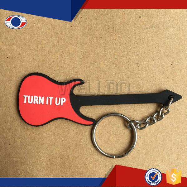 2016 new design 3d rubber key chain promotional gift rubber key ring
