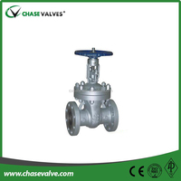 Class300 carbon steel rising stem flanged gate valve for handwheel
