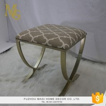 Countryside style living room vintage metal small square ottoman stool