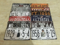 Custom wholesale souvenir metal craft home decorative vintage car license plate
