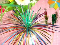5 colors layers palm picks 150mm wood cocktail picks for party and food