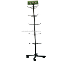 Economic and Reliable 5 Tiers Hooks Rack Map Brochure Display Rack Stand