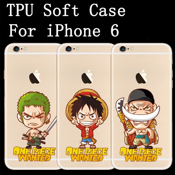 Hot Selling For Apple iPhone 6 4.7 Luffy One Piece Print TPU Soft Moblie Phone Case