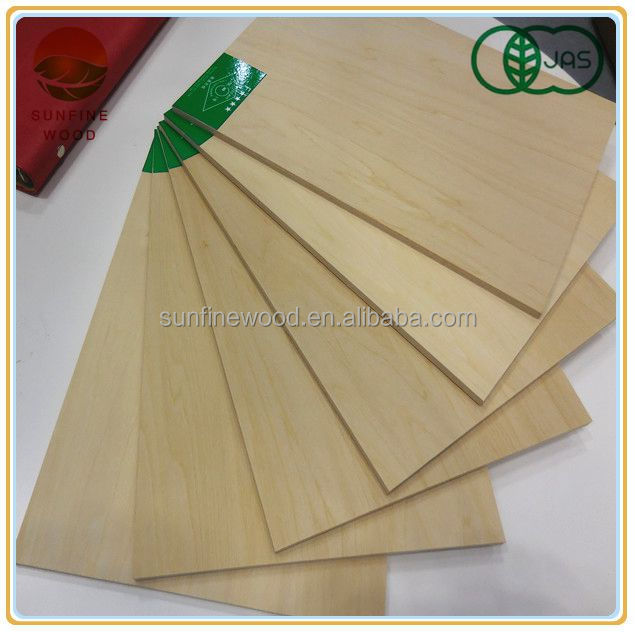 5.5 mm best quality basswood plywood for interior decoration with JAS FSC certification