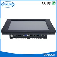 Touch all-in-one J1900 quad core fanless industrial panel pc