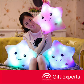 OEM Cute style colorful shining color changing pillow