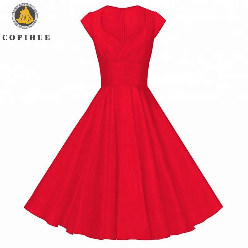 Red Elegant full figure evening dresses for women
