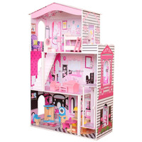 2018 Hot Selling Big Children Wooden House for doll Educational Play