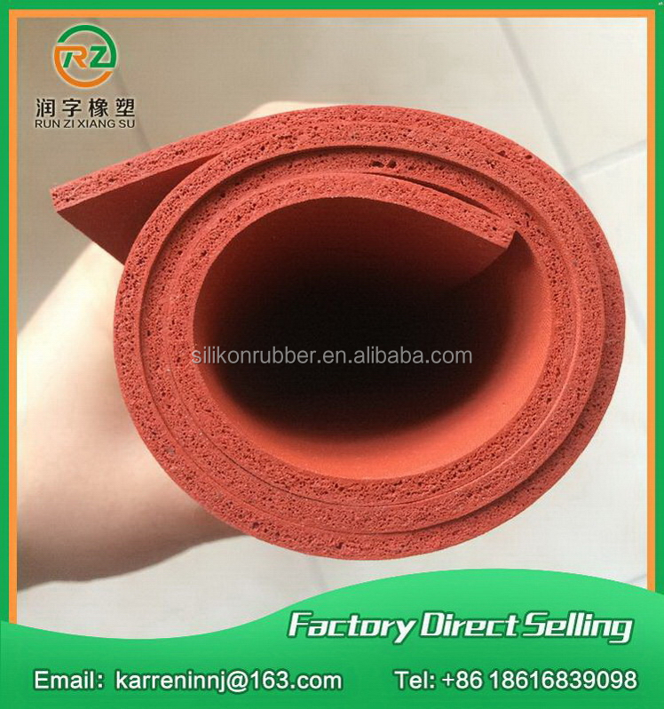 Good feature oem antifoaming silicone sponge rubber sheet