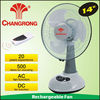14 inch rechargeable emergency battery powered table fan with light and usb