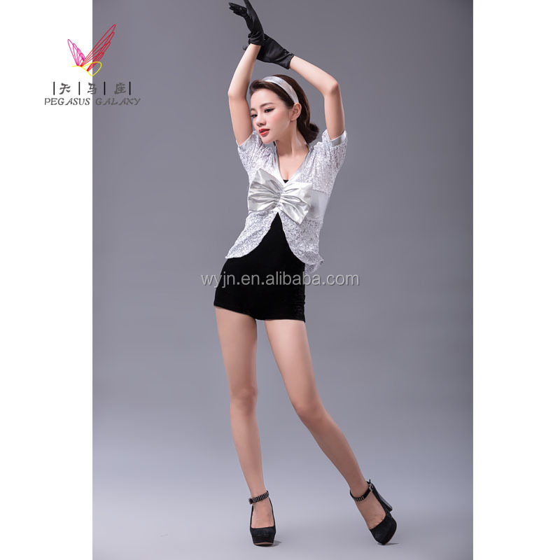 2014 - adult mini hipop-jazz oyster costume -girls' cool dance costume-practice skirt-children and adults